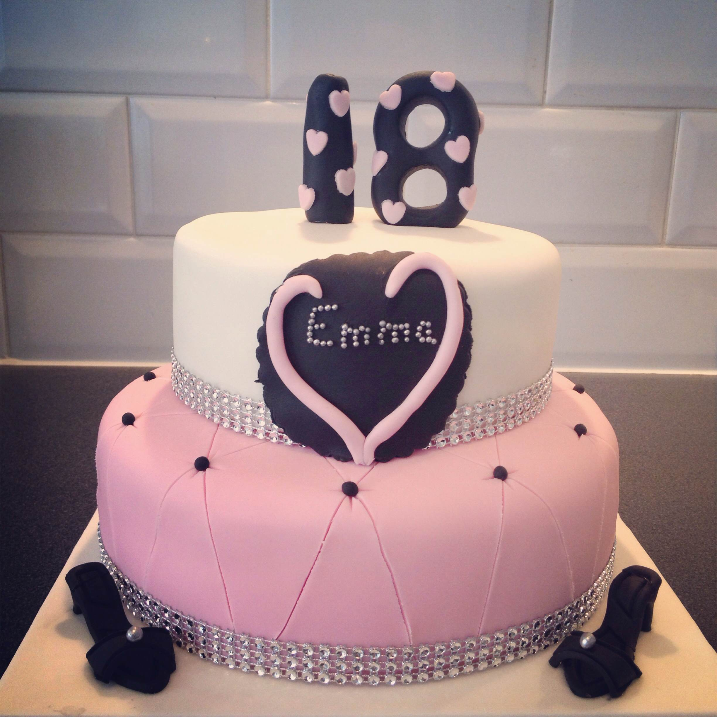 Girly Lipsy Themed 18th Birthday Cake Bakers Lane Cakes Bakers